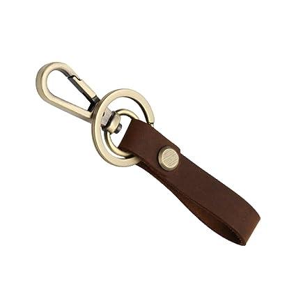 Pinzhi Llavero y Cuero Cinturón De Cinturón Llavero Anillo Llavero Llavero Llavero Desmontable (Marrón