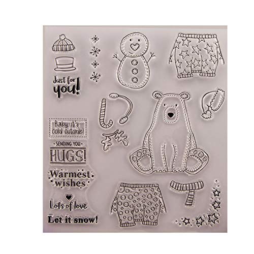ForHe Dog Perfectly DIY Silicone Clear Stamp for Card Making Decoration and Scrapbooking for Christmas Thanksgiving Gifts