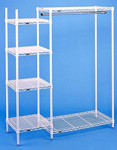 Open Garment Rack w Side Shelf Tower ()