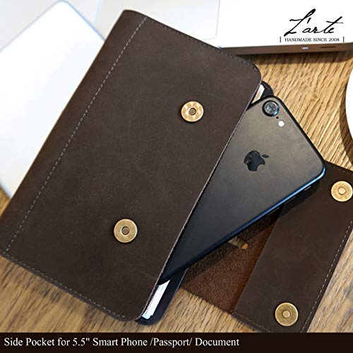 Personalized Leather Journal Notebook Genuine Handmade Customized Refillable Travel Daily Notepad Sketchbook,Vintage Card Phone Cover Gift for Men Women 7.4 x 4.8'' (A6-Personalized) by Z'arte (Image #2)