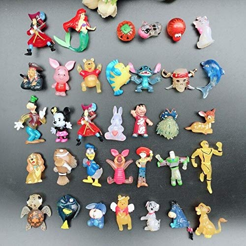 VIDANQE Mixed Wholesale 100Pcs/Lot Cartoon Bear Mickey Doll PVC Action Animals Figures Set Toys for Children Gifts Y58 Must Have Gifts 8 Year Old Girl Gifts The Favourite Comic Superhero LOL UNbox from VIDANQE