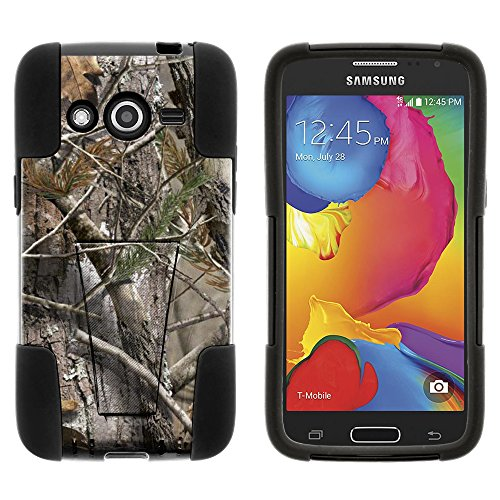 MINITURTLE Case Compatible w/Galaxy Avant Case, Fusion Strike Impact Stand Case w/Exclusive for Samsung Galaxy Avant SMG386T (T Mobile, MetroPCS) Tree Bark Hunter Camouflage (Ipod 4g Case Camo)