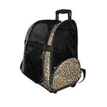 Anima Airplane Travel Carrier on Wheel, 14-Inch by 10-Inch by 19-Inch, Leopard Print