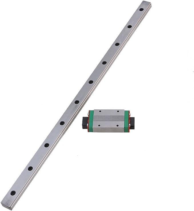 Cnbtr 400/mm de longueur en acier Roulement coulissant lin/éaire Guide Slide rail et 2/pi/èces Mgn15/lin/éaire extension Bloc