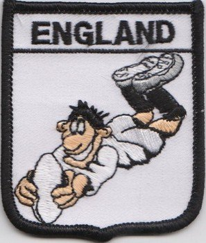 England Rugby Union Flag Embroidered Badge (a314)