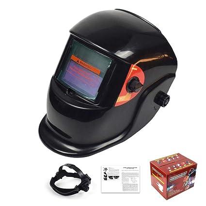 Casco De Soldadura Energía Solar Capa De Oscurecimiento Automático Soldador Máscara Cascos De Pulido Transpirable Con