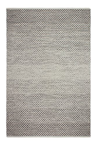 Fab Habitat Reversible Cotton Area Rugs   Rugs for Living Room, Bathroom Rug, Kitchen Rug   Aurora - Gray   8' x 10' (Dhurrie Rugs Cotton Area)