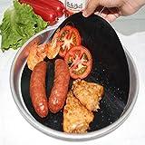 Onefa 4Pcs/lot Kitchen Frying Pan Liner Pan Mat Non-Sticky Round Pan Liner Sheet (Black)