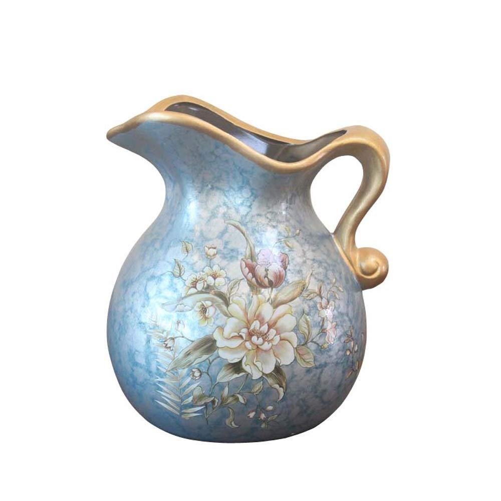 ヨーロッパスタイルのセラミック花瓶用花グリーン植物結婚式の植木鉢装飾ホームオフィスデスク花瓶花バスケットフロア花瓶 B07RJ3P1P4