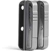 FEGVE Titanium Belt Loop Keychain with 2 Detachable Clips - Belt Key Ring Holder - Heavy Duty Belt Key Clip