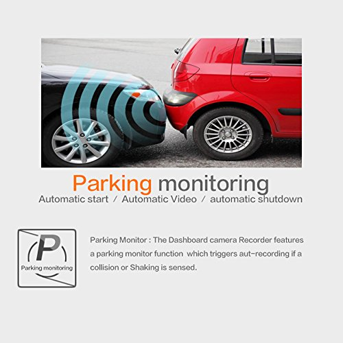 Rafer R-GS63 GPS Driving Recorder Built-in WiFi with APP 2160P HD Video 165/° Degree Wide Angle lens Parking monitor Car Camera with Night Vision Parking monitor G-Sensor Motion Detection 2.4inch LCD Jianmu technologies