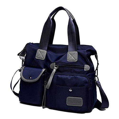Bags Body Cross Nylon Waterproof gracosy Fashion Blue Shoulder Women's Bag vngw7Uv