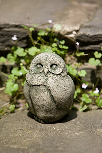 Campania International A-346-TR Baby Barn Owl Statue, Travertine Finish