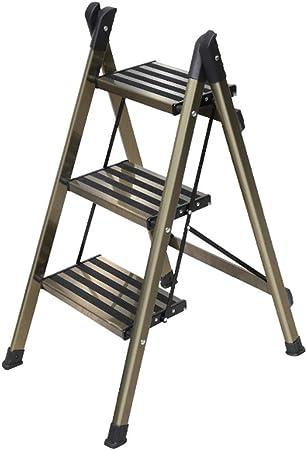 Escalera de Tijera Plegable de Aluminio Taburete de 3 peldaños Escaleras Antideslizantes para el hogar y la Cocina Escalera Resistente y Resistente Carga máxima 150 kg Ahorro de Espacio: Amazon.es: Hogar