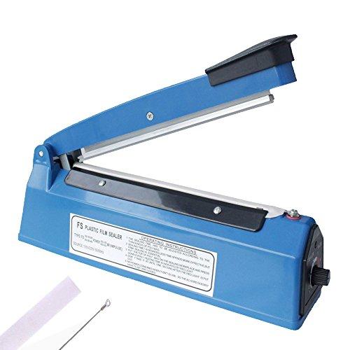 Heat Sealer,LIMNUO 8' Impulse Sealer Heat Seal Closer - Cellophane Manual Bag sealer