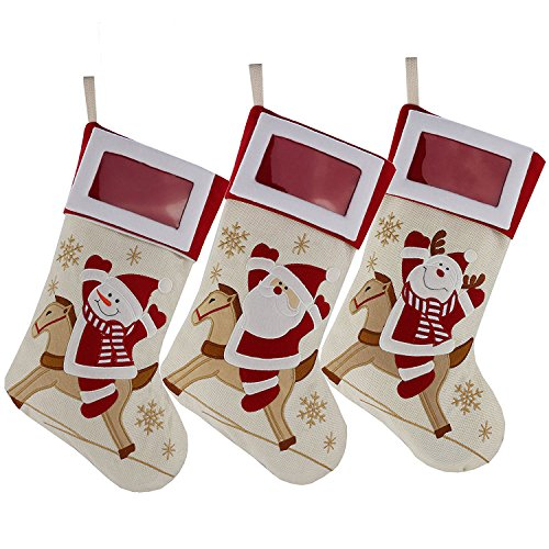 (DearSun Christmas Stockings with Photo Frame 18