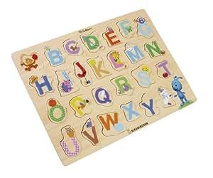 Eichhorn 109467052 KiKANiNCHEN - Tabla de madera troquelada con letras abecedario (Simba Dickie)