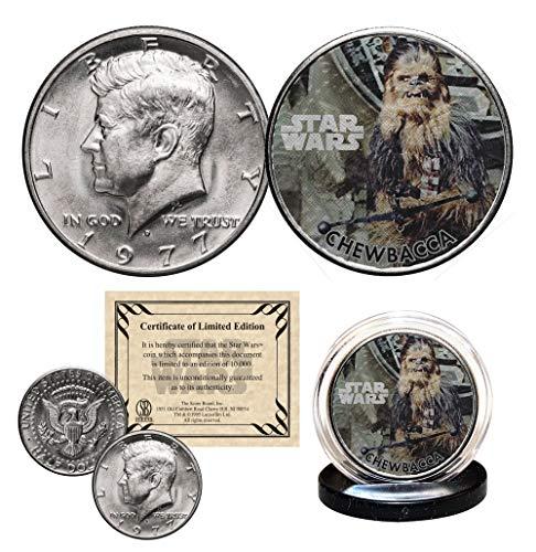 (CHEWBACCA - STAR WARS Officially Licensed 1977 JFK Half Dollar U.S. Coin)