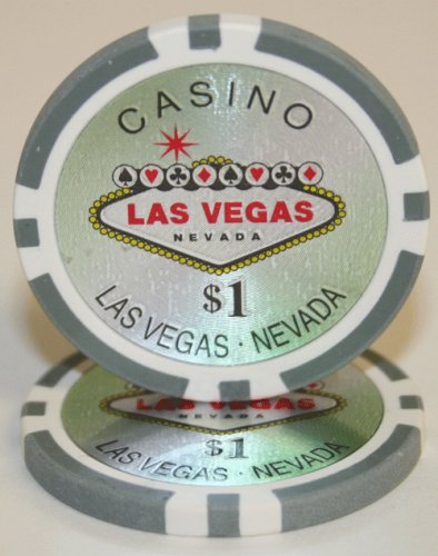 25 $1 Las Vegas 14 Gram Laser Graphic Poker Chips (Gram Laser Graphic 14)