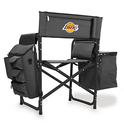 NBA Los Angeles Lakers Portable Folding Fusion Chair, Grey/Black