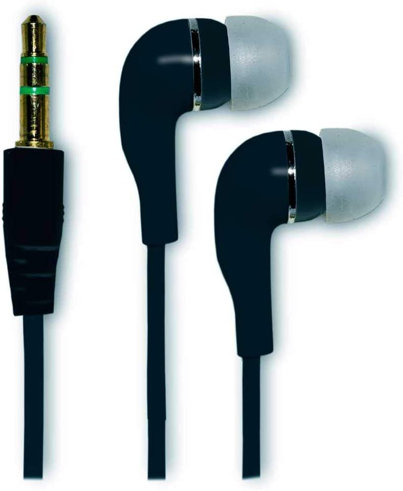 OcioDual Cascos Compatibles Auriculares para Movil MP3 Silicona iPhone iPod iPad Negro