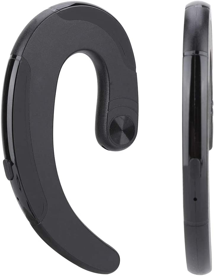 Tangxi Audífonos de conducción ósea, HBQ-Q25B Bluetooth inalámbrico V4.2 + EDR Mini Auricular Deportivo Impermeable con Micro Compatible con V4.0, V3.0, V2.1, V1.1(Negro)