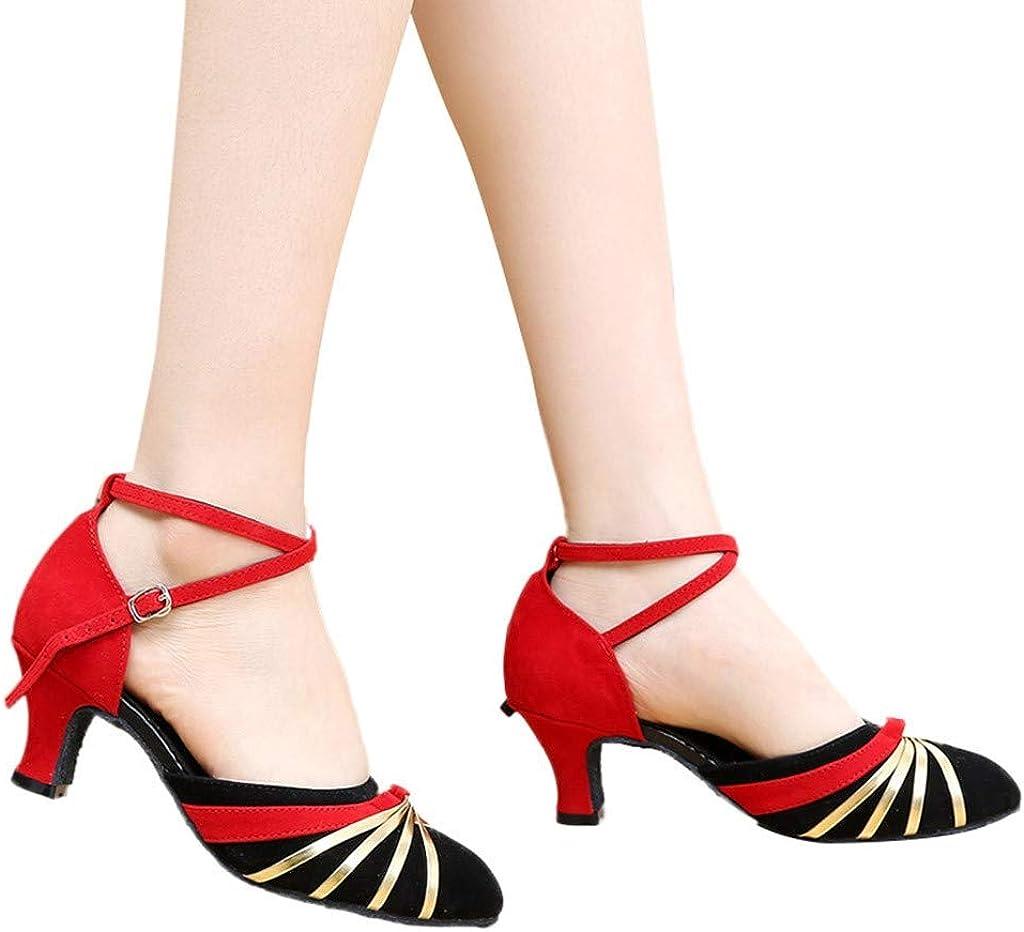Women Low-Heels Dance Shoes Ladies Rumba Waltz Prom Ballroom Latin Salsa Dancing Shoes Sandals Outtop TM