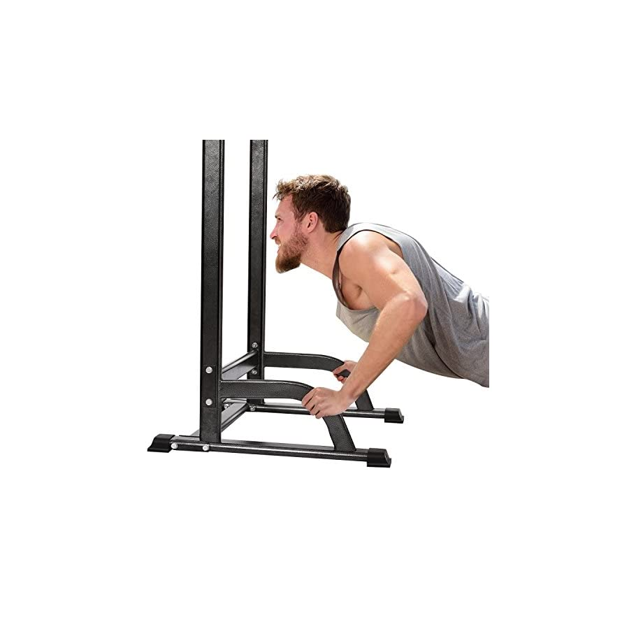 Skylin Adjustable Multi Function Dip Station Pull Up Stand Full Body Power Tower for Indoor Home Gym