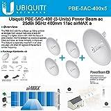 Ubiquiti PBE-5AC-400 5-PACK PowerBeam AC 25dBi 5ghz 400mm 11AC Airmax CPE/Bridge