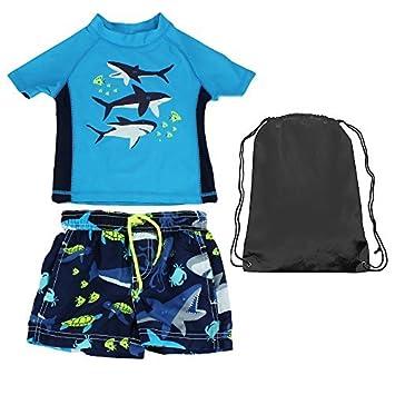 fe4fbdc40 Carter s Whale Rash Guard Set Boys Swim Outfit Blue 24M Size  24 Months  Color