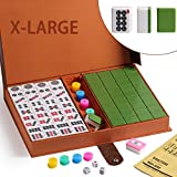 We pay your sales tax Chinese Numbered X-Large Tiles Mahjong Set. 144 Tiles 1.5 '' Easy-To-Read Game set / Complete set weighs 13 pounds. Gift / Birthday (Mah-Jongg, Mah Jongg, Majiang) C12462