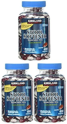 Kirkland Signature Stool Softener 100 Mg 400 Softgels