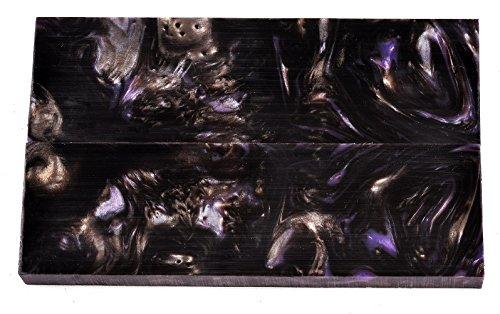 "Crushed Velvet Acrylic Liquid Inlace Scales -- 5"" x 1-1/2"" x 3/8"" (Each Pair is Unique!)"