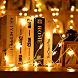 Yaseking 2M 10 LED Wedding Party Star String Lights, Crystal Clear Star Fairy String Light Outdoor Cafe Gazebo Party Decor Lamp (2M, Yellow)