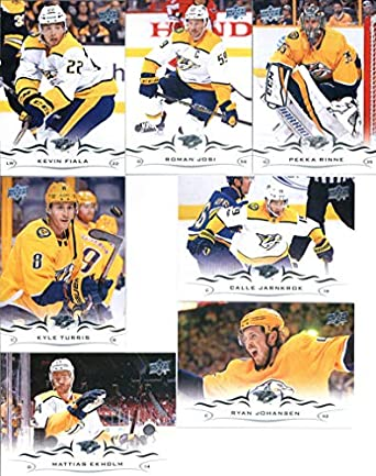 65d77c8d3 2018-19 Upper Deck Series 1 and 2 Hockey Complete Nashville Predators Team  Set of