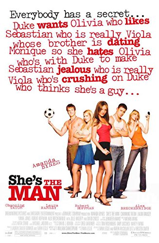 She's the Man Poster Movie 11x17 Jeffrey Ballard Lynda Boyd Alex Breckenridge Amanda Bynes