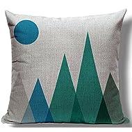 Elephant Deer Mountains Cotton Linen Throw Pillow Case Cushion Cover Home Sofa Decorative 18 X 18 Inch (32)