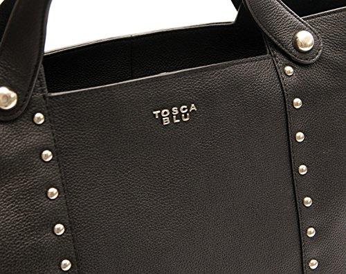Nero Acquamarina Donna Grande Tosca Blu Shopping Borsa nY4wpgO