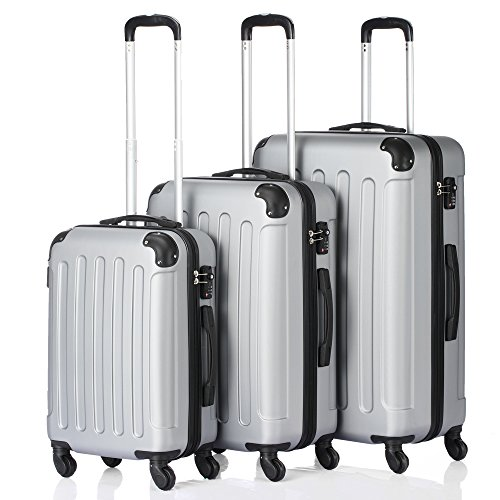 3-in-1 Multifunctional Large Capacity Traveling Storage Suitcase Trolley Case Grey by Lykos