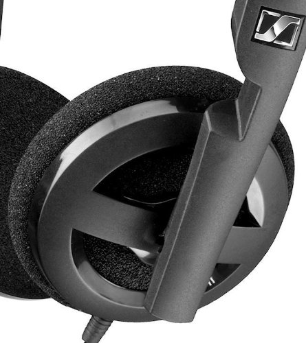Sennheiser PX 100-II i Light Weight Supra-Aural Headset with 3 Button Control for i-Pod,i-Phone and i-Pad (Black) by Sennheiser