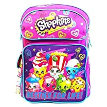 "Shopkins Large School Backpack 16"" Girls Book Bag Moose Bag"