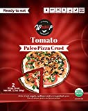 Paleo Pizza Crust | Tomato Flavored Organic Gluten Free, Dairy Free, Soy Free, Nut Free and Vegan Pizza Crust 6 Pack