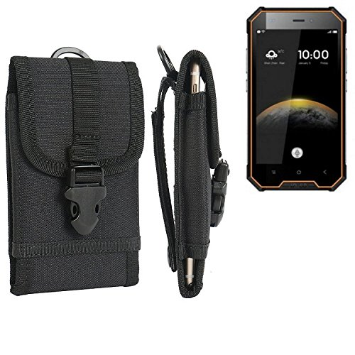 bolsa del cinturón / funda para Blackview BV4000, negro | caja del teléfono cubierta protectora bolso - K-S-Trade (TM)