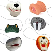 Funny Party Hats Animal Nose - Costume Animal Mask - 6 Pack of Assorted Masks - Dress Up