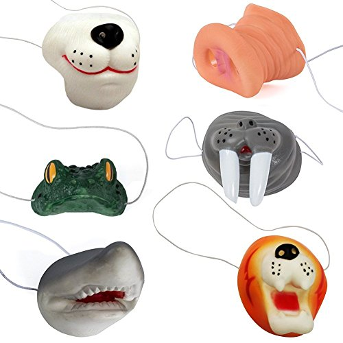 Funny Party Hats Animal Nose – Costume Animal Mask – 6 Pack of Assorted Masks – Dress Up]()