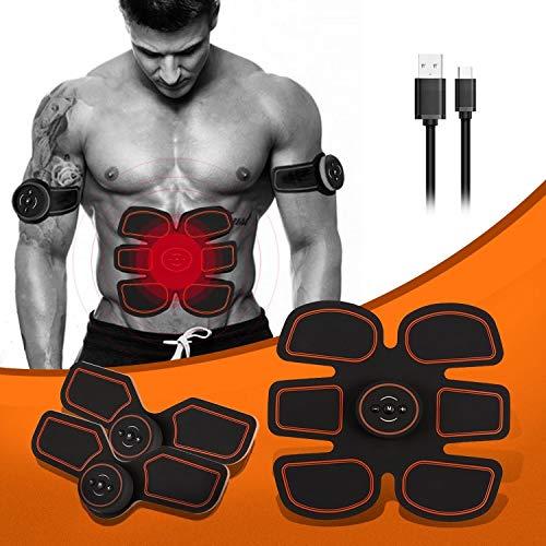 Pro USB Charging Muscle Toner Abdominal Toning Belt Workouts Portable AB Machine EMS Training Home Office Fitness Equipment for Abdomen/Arm/Leg Training Men Women