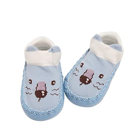 BESTOYARD Bebé Niños Niñas Niños Pequeños Lindos Zapatillas Antideslizantes Zapatillas León Animal Invierno Cálido Suela de