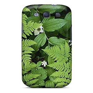 Galaxy S3 Cover Case - Eco-friendly Packaging(green Ferns)
