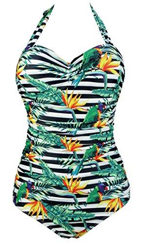 Cocoship Swimsuit Ruching Swimwear Monokinis