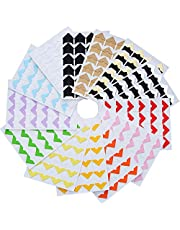 312 Pieces Photo Corners Self Adhesive for DIY Scrapbook, Picture Album, Personal Journal, Dairy More (Multicolor A)